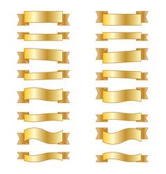 Set design elements banners ribbons vector
