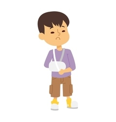 Sick children vector image