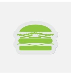 simple green icon - hamburger vector image