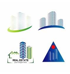 Skyline logo set template design vector