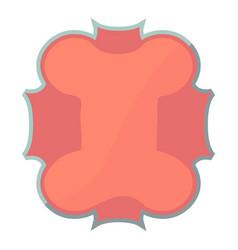 Small label icon cartoon style vector