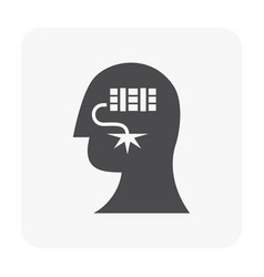 Stressed emotion icon vector