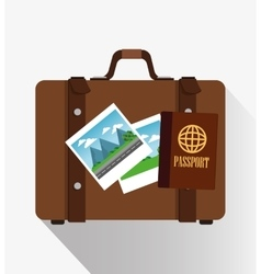 Suitcase to travel design vector