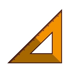 triangle ruler isolated vector image
