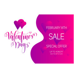 valentine day sale bright gradient layout vector image