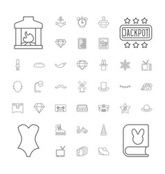 Vintage icons vector