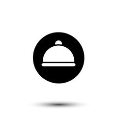 white cloche icon vector image