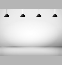 white room with lamp background vector image