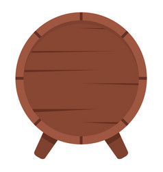 wooden barrel on legs icon isolated vector image vector image