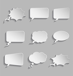 Collection of comic style thought bubbles - 3D vector image