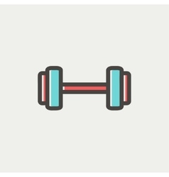 Dumbbell thin line icon vector image vector image