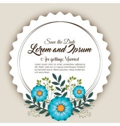 floral wedding invitation isolated icon design vector image