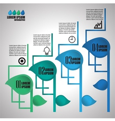 Info graphic leaf step vector image vector image