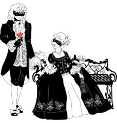 Man and woman at the carnival vector image vector image