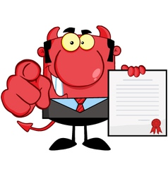 Smiling Devil Boss vector image vector image