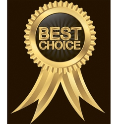 Best choice golden label with ribbon vector image vector image