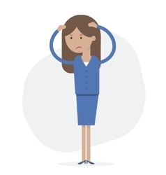 Business Woman Upset vector image vector image