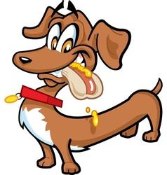 Dachshund Hot Dog vector image