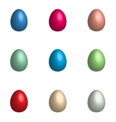 Easter background with eggs set vector image