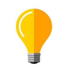 flat light bulb idea symbol vector image vector image