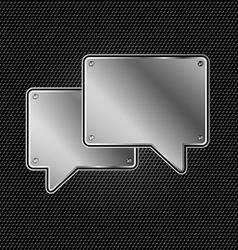 Abstract metal speech buble vector image vector image