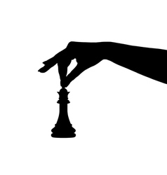 chess piece silhouette vector image vector image