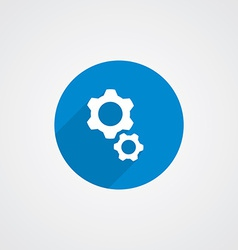 Flat Blue Settings Icon vector image vector image