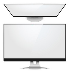 Monitor Front View vector image vector image