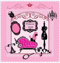 Princess Room - for girls vector image vector image