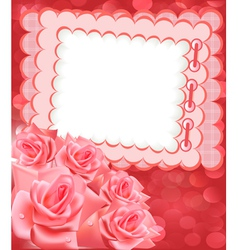 Rose Photo Frame vector image