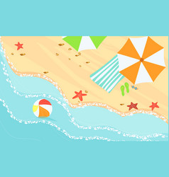 top view on beach sand vector image
