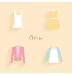 Abstract clothes objects vector image