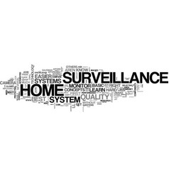 basic knowledge about home surveillance text word vector image vector image