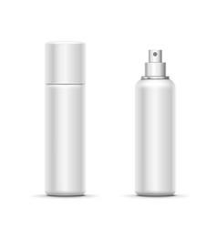 blank metal bottle with sprayer cap deodorant vector image
