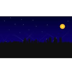city building night vector image vector image