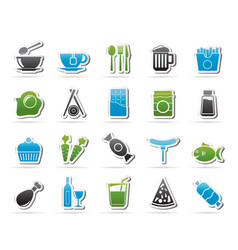different king of food and drinks icons 1 vector image vector image