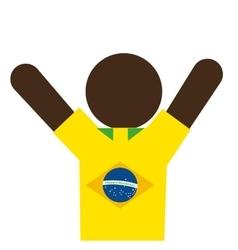 figure silhouette man brazilian vector image