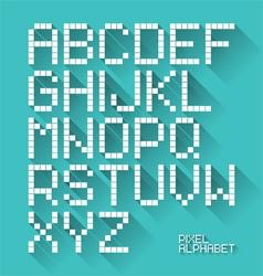 Flat design pixel alphabet vector image vector image