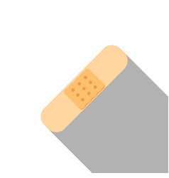 flat icon of plaster vector image