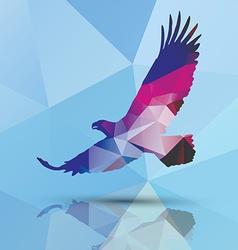 Geometric polygonal eagle pattern design vector image vector image