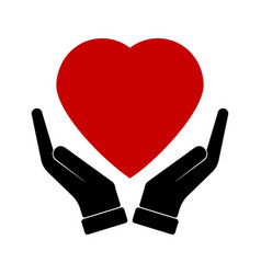 hand holding heart healthcare vector image