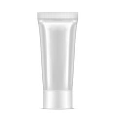 white realistic tube vector image