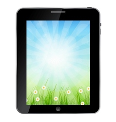 A ecologic Tablet PC vector