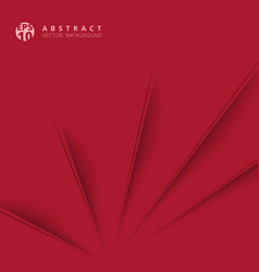 Abstract diagonal paper cut with shade red vector