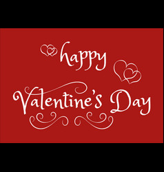 abstract happy valentine day calligraphy text vector image