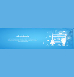 Advertising site business concept horizontal web vector