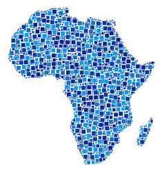 Africa map composition of squares vector