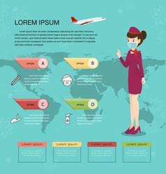 Air hostess and epidemics virus information vector
