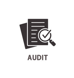 audit icon on white background vector image