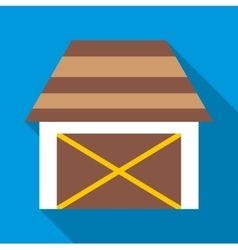 Barn for animals icon flat style vector